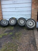 Ford Fiesta ST Focus RS Genuine alloy wheels and tyres alloys 225 45 R17