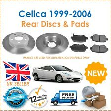 For Toyota Celica 1999-2006 Two Rear Solid 269MM Brake Discs & Brake Pads Set