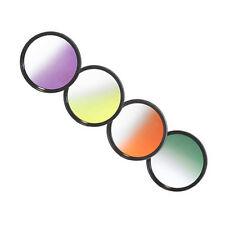 Verlaufsfilter Set  Gelb  Orange Grün  Violett  + Filterboxen 62mm