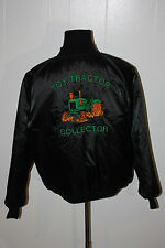 Pine County Toy Tractor Collector John Deer Snap Up Black Satin Jacket XL