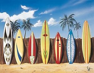 Surfboards Starting Lineup Scott Westmoreland Art Metal Sign Surfing Sports New