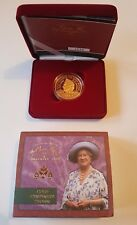 2000 £5 GOLD PROOF CROWN - QUEEN MOTHER CENTENARY - FIVE POUND POUNDS SOVEREIGN