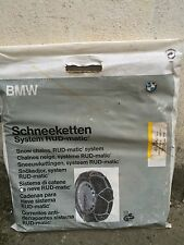 NUOVO Original BMW COPPIA catene da Neve RUD-matic 821240498cba 205/70 205/65 48564