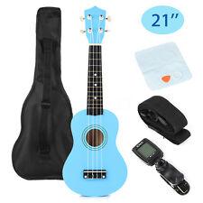 21'' Blue Ukulele Uke Musical Instrument Beginner Soprano Cuatro + Bag + Tuner