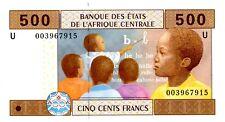 Central African Sates … P-206U … 500 Francs … (20)00 … *UNC*.