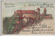 (76016) Künstler AK Nürnberg, Halt gegen das Licht, Burg von Süden 1902