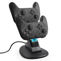 Controller Charger Charging Dock Station Stand Dual USB Port For Switch Pro US