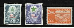 Yugoslavia Trieste-B 1953-.Collection of 3. Esperanto.Airmail. MLH.Very Fine