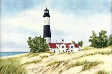 Set of Four Reproductions of Watercolor Paintings of Great Lakes Lighthouses 2