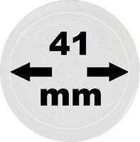100 x LOOK Münzkapseln 41 mm Innendurchmesser - Aussen. 47 mm Glasklar mit Rand