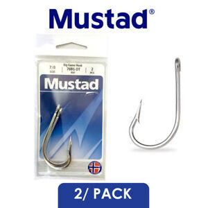 Mustad Big Game Southern & Tuna Fishing Hook 7691-DT Select Size