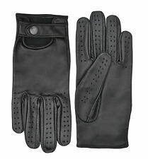 Soft Leather Classic Retro Driving Gloves Fashion Dressing Unlined Limo Driver
