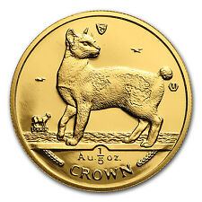 1994 Isle of Man 1/5 oz Gold Japanese Bobtail Cat - Sku #28270