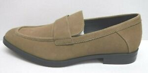 Calvin Klein Size 11.5 Beige Sand Suede Slip On Loafers New Mens Shoes
