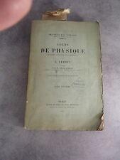 M.Verdet Cours de physique Tome II Monoyer ophtalmologie optique médecine