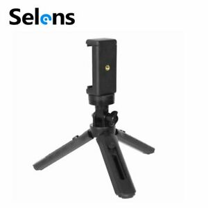 Selens Mini Tripod Extendable Camera Video Vlog Stand Holder w/ Phone Cilp Clamp