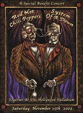 EMEK RED HOT CHILI PEPPERS METALLICA OFFICIAL CONCERT POSTER SIGNED NUMBERED 03