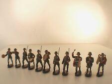 Elastolin Lot de 11 soldats allemands musique fanfare 1939 ancien 60 mm  RARE