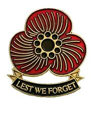 Remembrance Day poppy enamel Pin Badge 3D Red flower pin badge Brooch