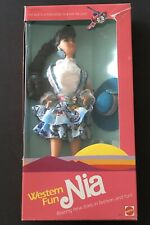 1989 Western Fun Nia Barbie doll