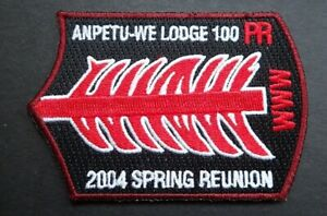 Boy Scout Patch - Order of the Arrow Anpetu-We- Lodge 100 PR 2004 Spring Reunion