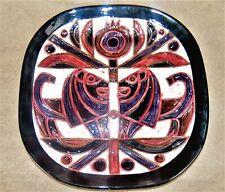 """HUGE 16"""" Vintage Mid C 50s Modern GOFER ISRAEL Art Pottery Ceramic Wall Plaque"""