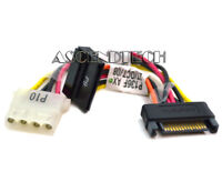 SATA MALE TO SATA FEMALE TO MOLEX IDE 4-PIN POWER SUPPLY ADAPTER CABLE ASSEMBLY