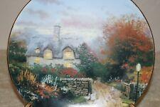 "1991 Thomas Kinkade collectable plate ""Open Gate Cottage"" #13936A original box"