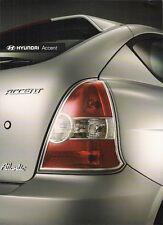 HYUNDAI ACCENT Atlantico 1.4 2007 nel Regno Unito delle vendite sul mercato opuscolo