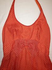 Vintage retro polka dot rockabilly halter maxi dress