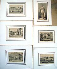 1892 BEL LOTTO DI 6 VEDUTE DI FELTRE NEL BELLUNESE MONTATE CON PASSE PARTOUT