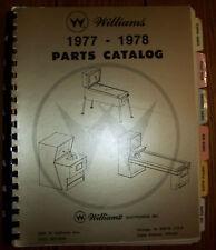 ORIGINAL WILLIAMS PARTS CATALOG 1977 TO 1978