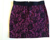 Skirt Junior Divided By H&M Girls Black/Purple Sz 6 Polyester Blend EUC