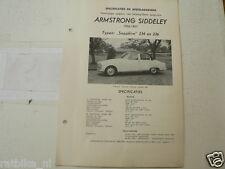 AMS2--ARMSTRONG SIDDELEY 1956-1957 SAPPHIRE 234 EN 236,TECHNICAL INFO CAR