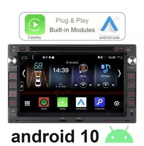 "7"" Car Stereo Android 10 DVD CarPlay GPS For VW Polo BORA PASSAT B5 GOLF 4 DAB+"