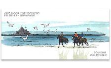 France 2014 World Equestrian Games Normandy Horses Stamp Mini Sheet MUH Folder