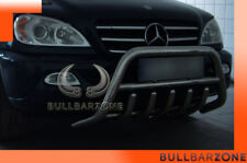 MERCEDES ML 2002-2005 PARE-BUFFLE BAS AVEC GRILLE DE PROTECTION CARTER EN INOX