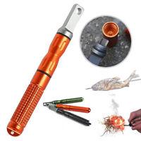 XL 1/4'' Ferrocerium Rod Fire Starter + EDC Nano Striker Outdoor Survival Tool