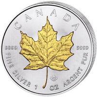 2016 Canadian Silver Maple Leaf Coin (Gilded, BU)