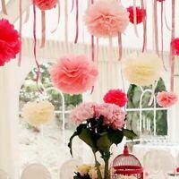 5PCS Handmade 6''(15CM) Tissue Paper Pom Poms Paper Flower Ball Pompom For Home