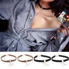 Leather Choker Charm Necklace Vintage Hippy Chocker Retro Black Leather Cord New