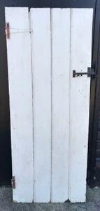 RECLAIMED PAINTED PINE 4 PLANK & LEDGE INTERNAL DOOR