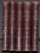 Dr VERON 1856 Mémoires d'un Bourgeois de Paris Lib. Nouv. 1856 5 vol complet BE