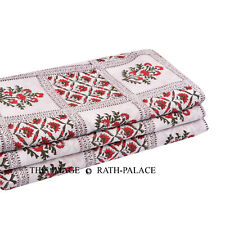 Indian 2.5 Yard Hand Block Print Natural Sewing Sanganeri Fabric Dressmaking