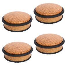 4 Türstopper Holz Bambus Türpuffer Türhalter Wand Schutz Boden Stopper 1,1KG Set