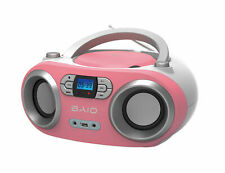 OUTMARK BAIO TRAGBARER CD-PLAYER CD-RADIO BLUETOOTH USB  PINK KINDER BOOMBOX