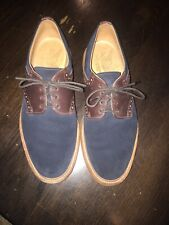 Mark McNairy New Amsterdam Oxfords Men's Size 10 Blue Suede/Brown Leather Shoes