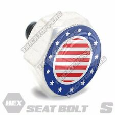 Polished Hex  - Billet Aluminum Seat To Fender Bolt for Harley STARS AND STRIPE
