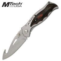 Coltello MTech MTA073 folder Guthook Caccia Knife Messer Couteau Navaja