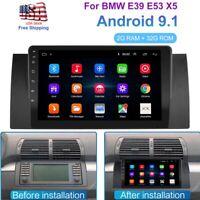 "For BMW E38 E39 E53 X5 9"" Android 9.1 Car Stereo MP5 Player Radio GPS Navigation"
